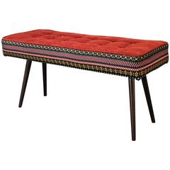 Studio Series Bench, Folklorica with Flame Red Seat