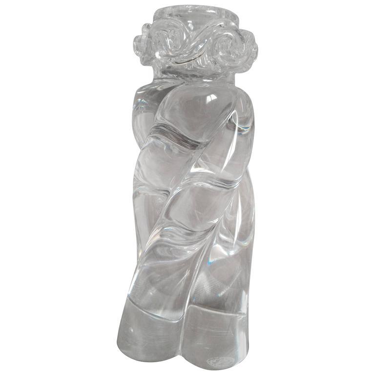 Elegant Baccarat Crystal Candleholder, France