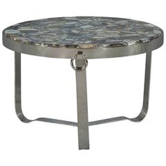 Blue Agate Stone Cocktail Table