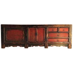 Antique Chinese Sideboard Credenza Grain Store Kang, 18th Century
