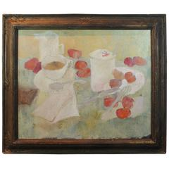 Mid-20th Century Oil on Canvas Still Life