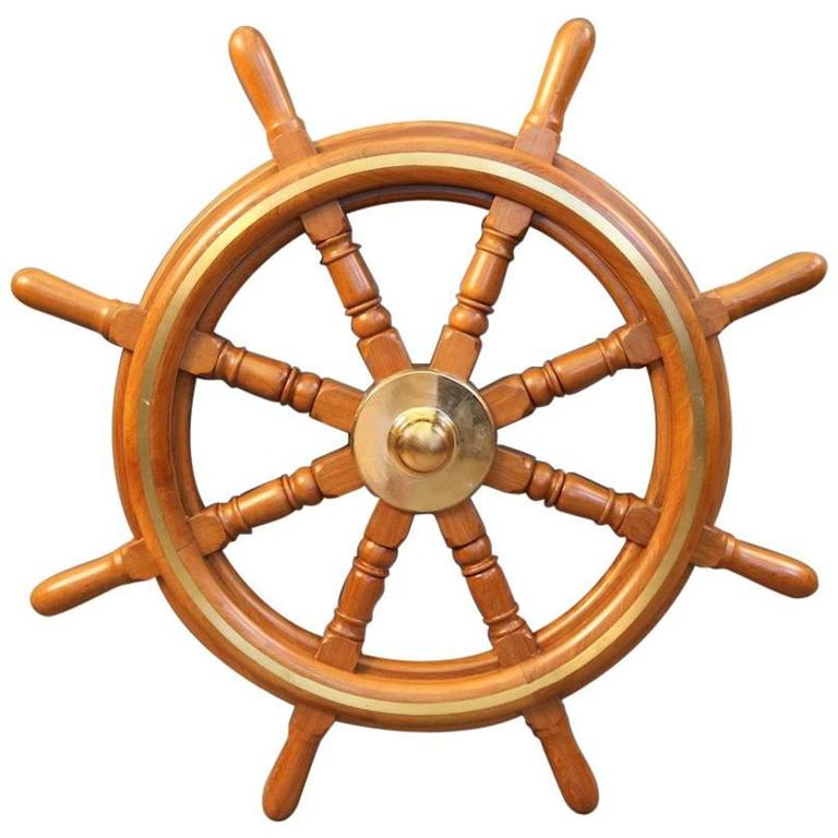 Authentic Eight-Spoke Ship's Wheel For Sale