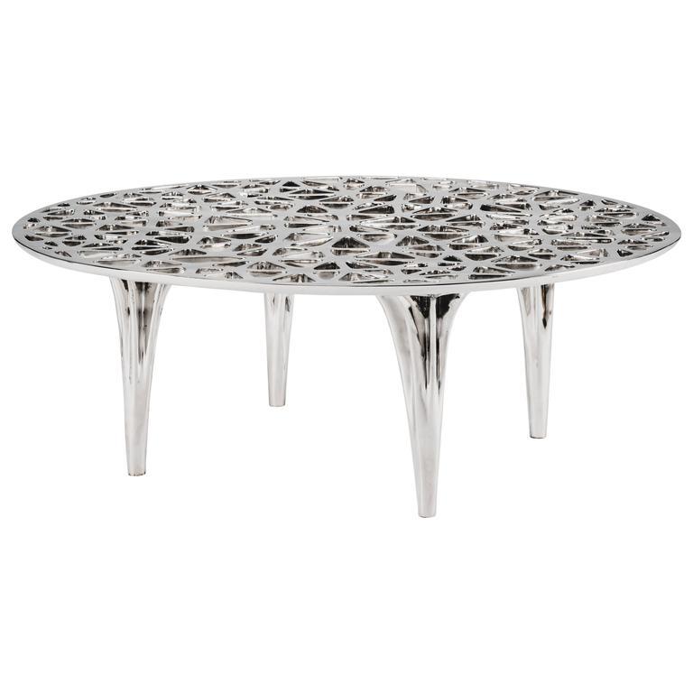 Sedona Stainless Steel Round Coffee Table By Janne Kyttanen 1