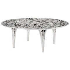 Sedona Stainless Steel Round Coffee Table by Janne Kyttanen