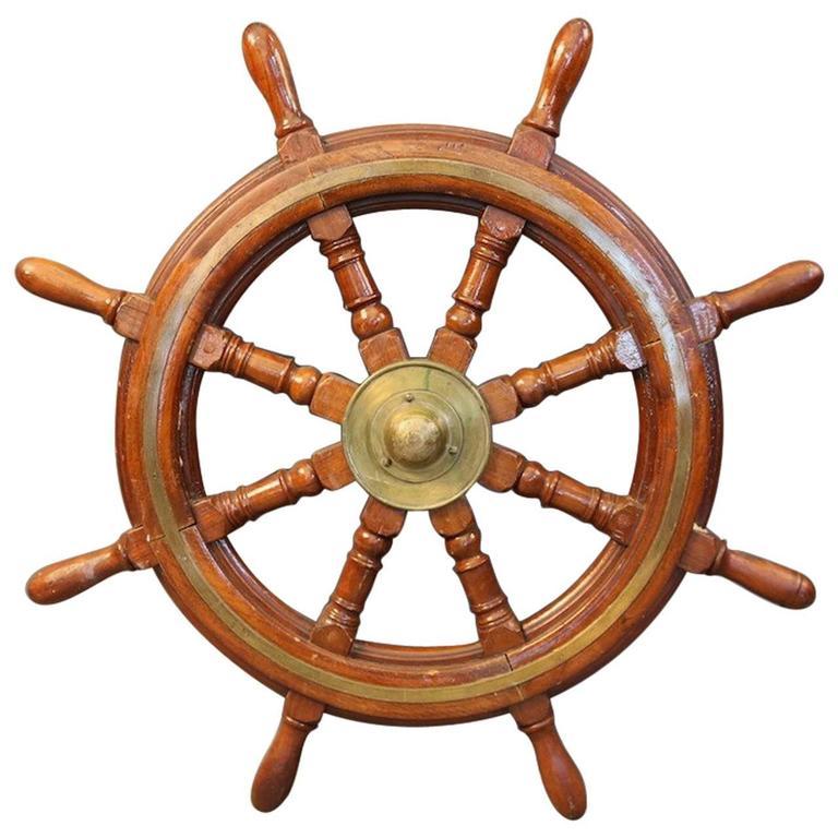 Old Eight-Spoke Ship's Wheel