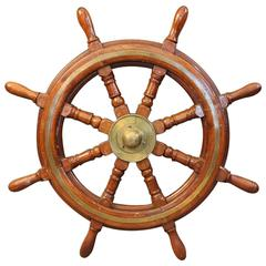 Old Eight-Spoke Ship's Wheel