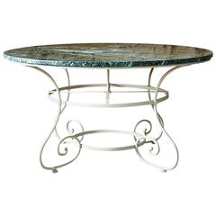 19th Century Dining Table with Marble Top