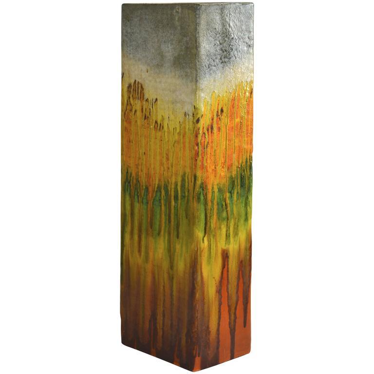 Monumental Marcello Fantoni Ceramic Vase, Umbrella Stand