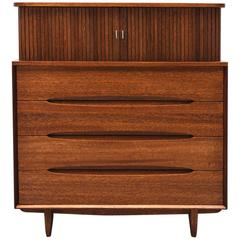 Mahogany Chest by Paul Laszlo for Brown Saltman, 1950s