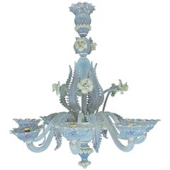 Murano Glass Eight-Arm Chandelier