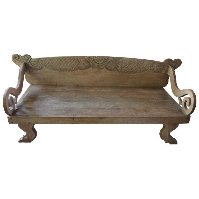 Antique Teak Wood Daybed 1