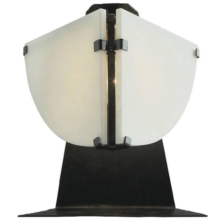 quart de rond table lamp by pierre chareau for sale at 1stdibs. Black Bedroom Furniture Sets. Home Design Ideas