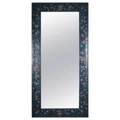 Full Length Decoupage Mirror in Blue
