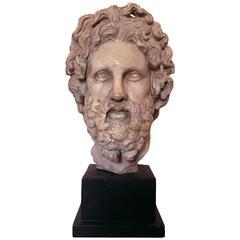 Mid-20th Century Hellenistic Bust of Asklepios by Alva Studios