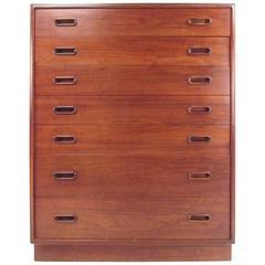 Mid-Century Scandinavian Modern Highboy Dresser