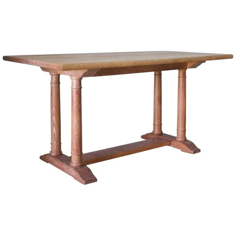 Heal and sons oak dining table circa 1922 at 1stdibs - Heals dining table ...
