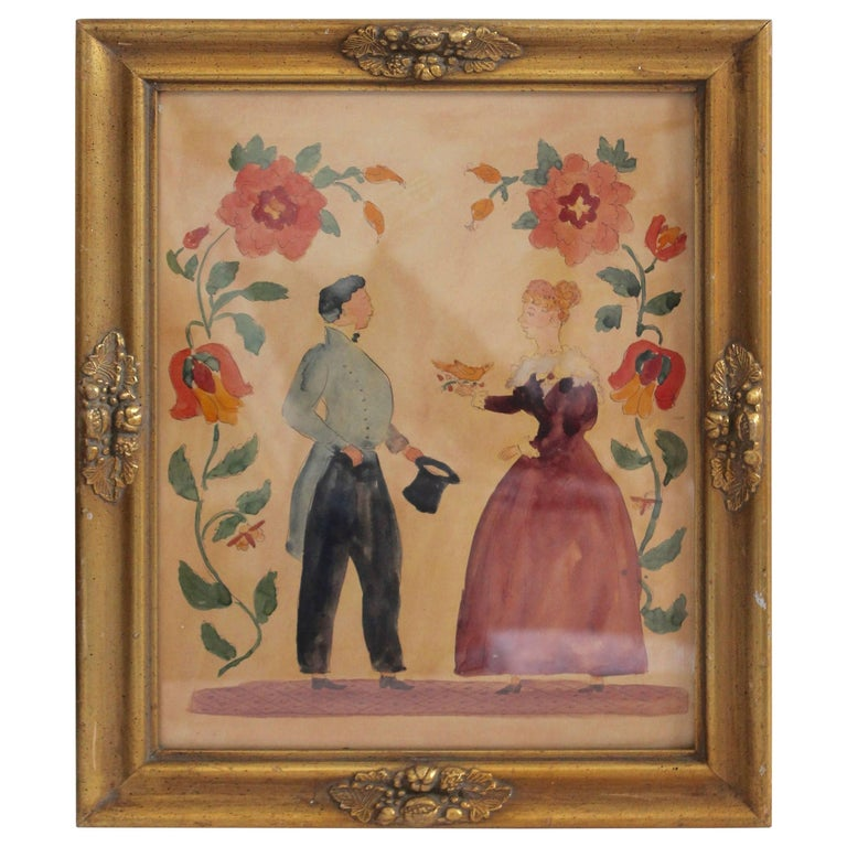 19th Century Hand-Painted Pennsylvania Froctor For Sale