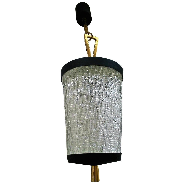 Elegant French Mid-Century Modern Arlus Pendant, 1950s