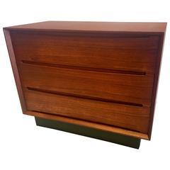 Danish Modern Teak Triple Dresser Drawer by Dyrlund