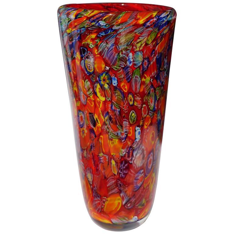Murano Glass Vase For Sale