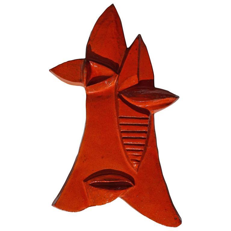 Ceramic Mask Sculpture