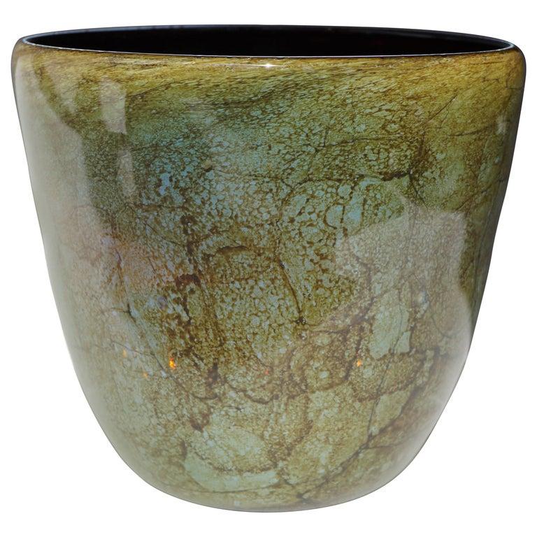 Italian Murano Glass Vase For Sale