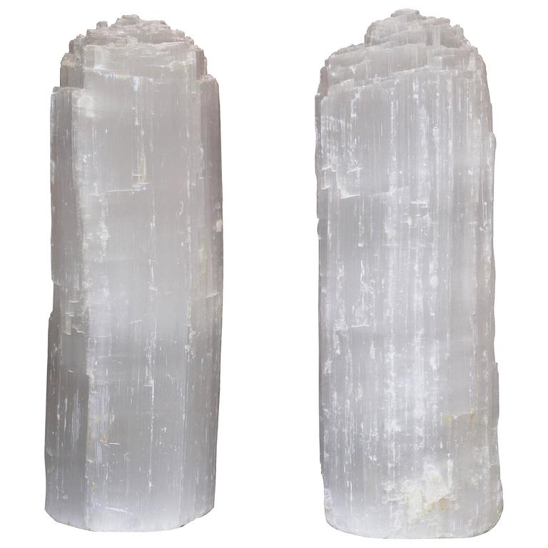 Pair of Quartz Table Lamps