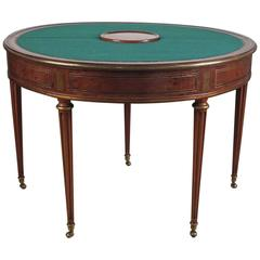Fine Louis XVI Brass Mounted Ebony & Acajou Games Table by Godefroy Dester