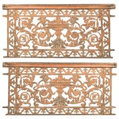 Pair of Rococo-Style Wrought Iron Gates