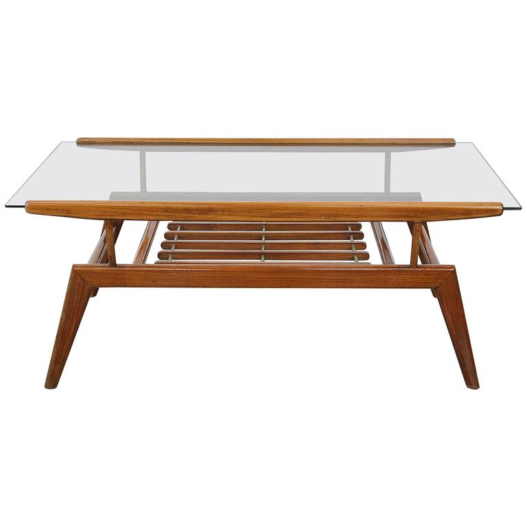 Italian mid century gio ponti style coffee table for sale at 1stdibs Tuscan style coffee table