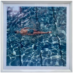 "Contemporary Framed Photograph ""the Swimmer"" by Fred Lyons, 1960"