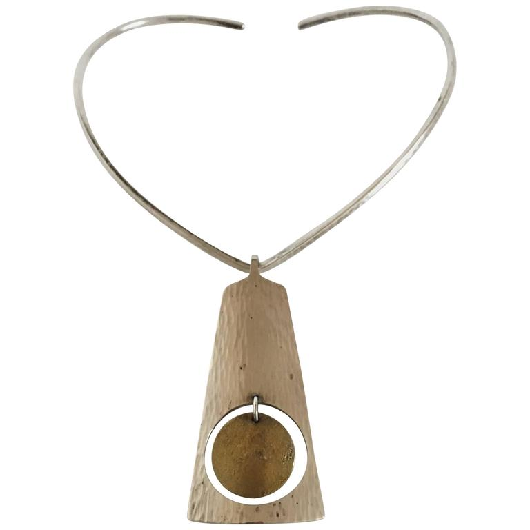 Hans Hansen Sterling Silver Necklace and Pendant