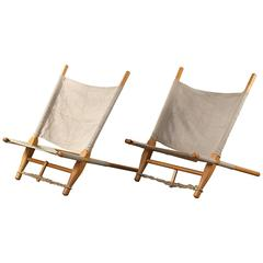 1960s Ole Gjerløv-Knudsen 'Saw' Lounge Chairs for Cado Set of Two