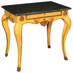 20th Century Italian Lacquered, Painted and Gilt Side Table