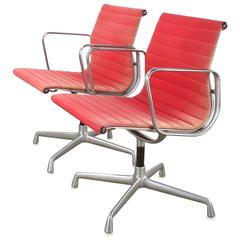 Charles and Ray Eames EA107 Fauteuil for Herman Miller, Set of Two