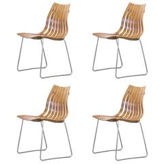 1950s Hans Brattrud 'Scandia' Chair Group of Four for Hove Möble