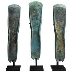 Three Ancient European Bronze Age Axes, 1400 BC