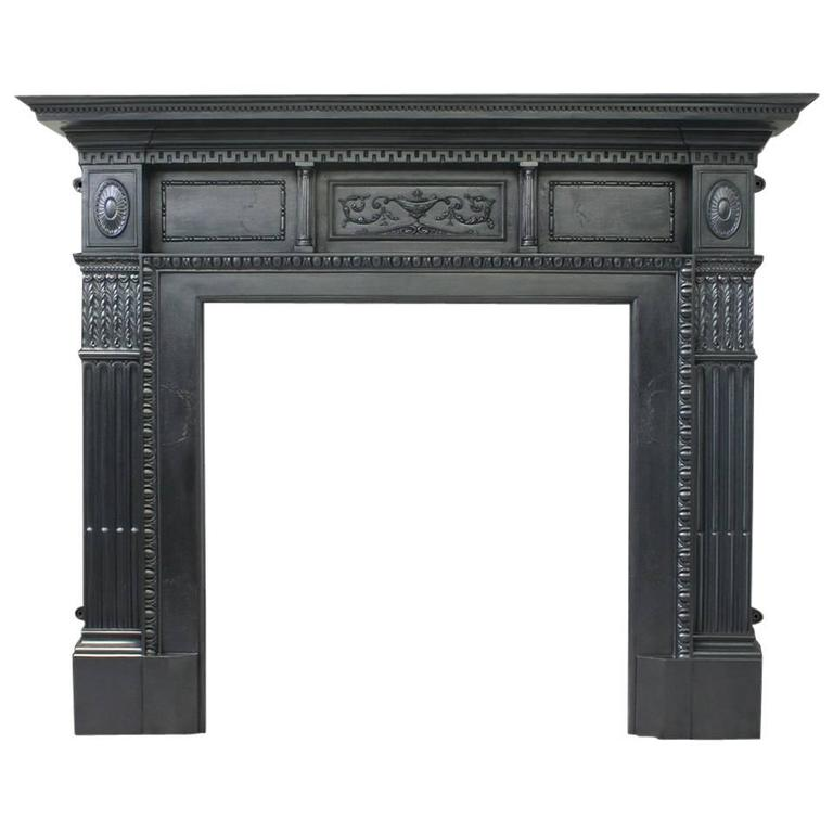 Antique Victorian Cast Iron Fireplace Mantle at 1stdibs