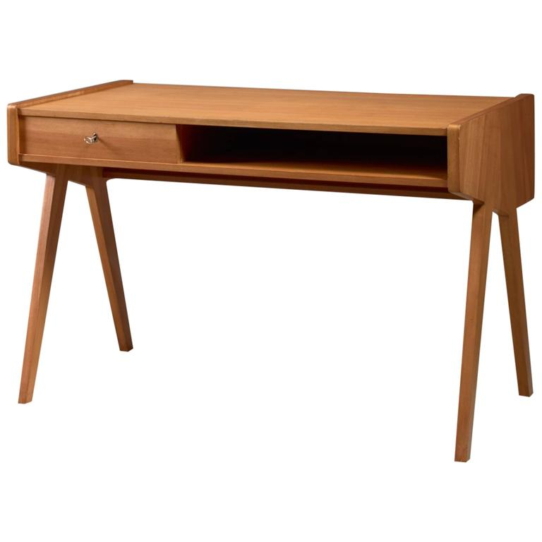 Helmut Magg Small Wooden Writing Desk Germany 1950s 1