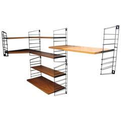 Teak Tomado Holland Book Shelves with Corner Shelve, 1950
