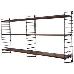 D. Dekker for Tomado Holland Rosewood Veneer Book Shelves or Wall Unit, 1950