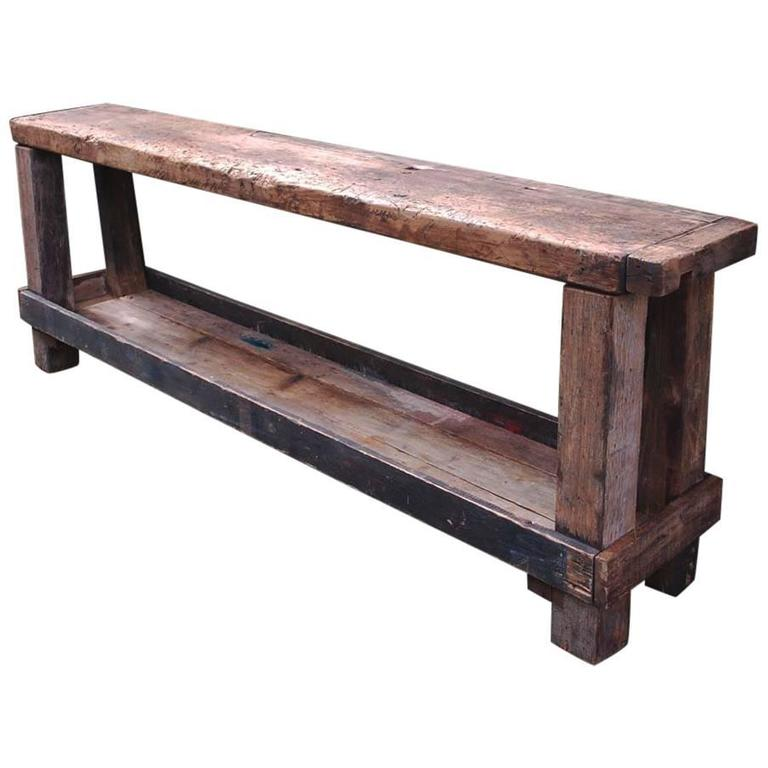 20th Century Carpenters Workbench or Industrial Work Table