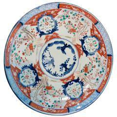Large Polychrome Japanese Imari Charger, 18th-19th Century