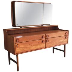 1970s Mid-Century Dressing Table by Meredrew with Adjustable Side Mirrors