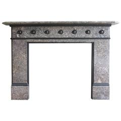 Reclaimed Antique Victorian Limestone Fire Surround