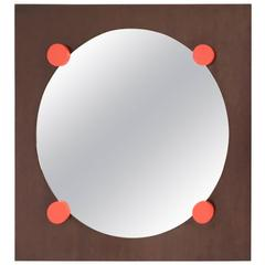 Wall Mirror in the Style of Ettore Sottsass, Italy, 1970s