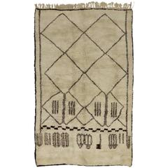 Contemporary Berber Moroccan Rug with Mid-Century Modern Design