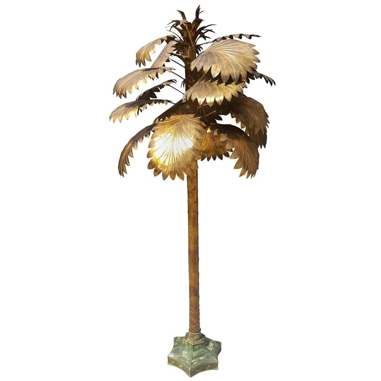 Gold Metal Decorative Palmtree, Mid Century