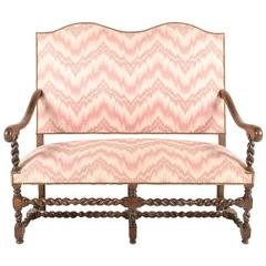 French High-Back Settee with Barley-Twist
