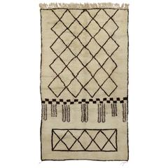 New Contemporary Berber Moroccan Rug with Mid-Century Modern Design